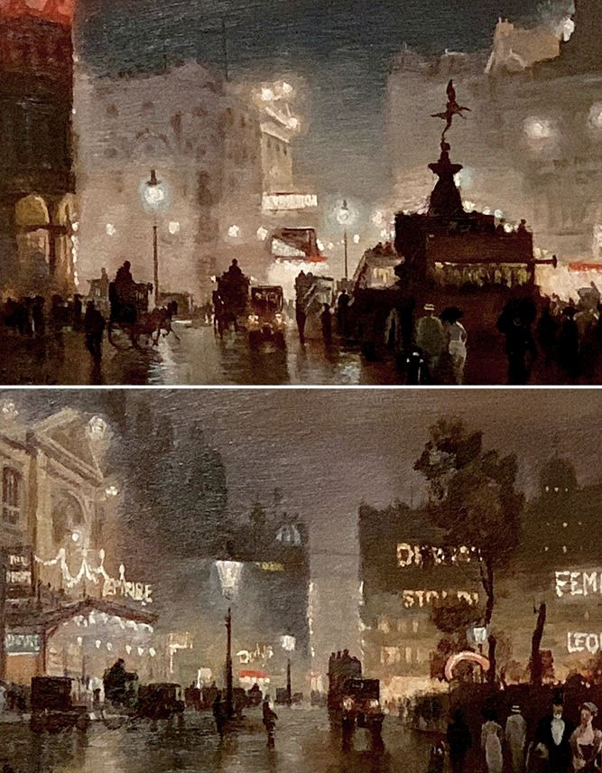 George Hyde Pownall - Piccadilly Circus; The Empire, Leicester Square | MasterArt
