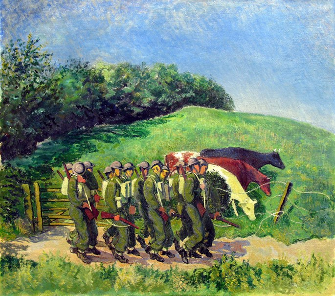 Gilbert Spencer - Troops in the Countryside | MasterArt
