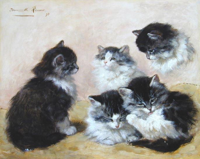 Henriette Ronner-Knip - Kittens   MasterArt