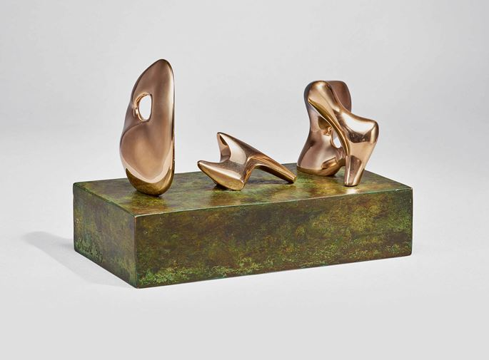 Henry Moore - Three Piece Reclining Figure: Maquette No.2: Polished | MasterArt