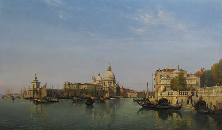 The Punta Della Dogana and Grand Canal, Venice