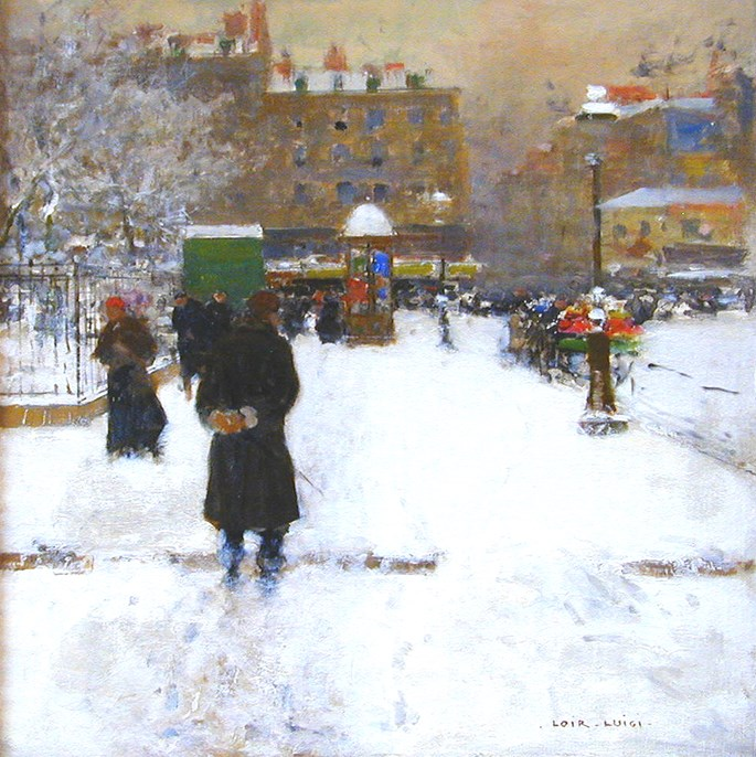 Luigi Loir - Le Square du Temple, Paris in Winter | MasterArt