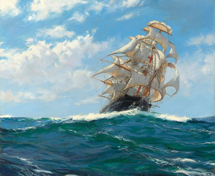 Montague Dawson, RSMA, FRSA - Running Free – The Yankee Packet 'Dreadnought' | MasterArt