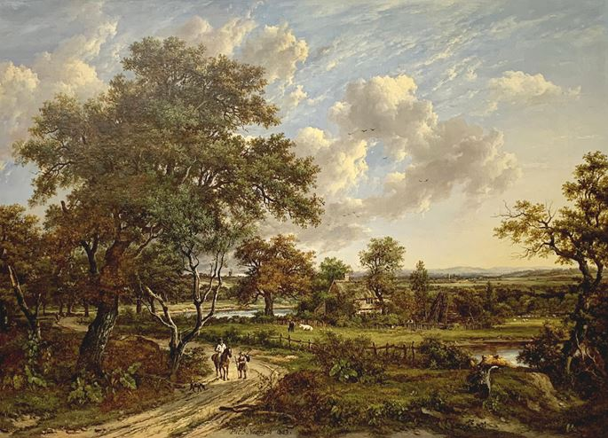 Patrick Nasmyth - A wooded landscape with travellers on a track | MasterArt