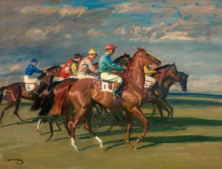 Lord Astor's High Stakes with Sir Gordon Richards Up at Newmarket