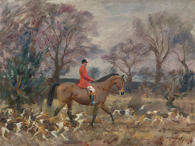 Sir Alfred James Munnings - The Belvoir Hunt | MasterArt