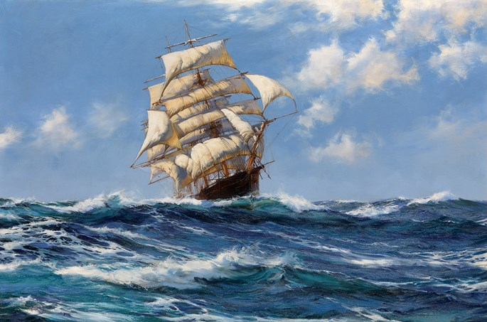 Montague Dawson - Spreading Wings – The Oberon | MasterArt