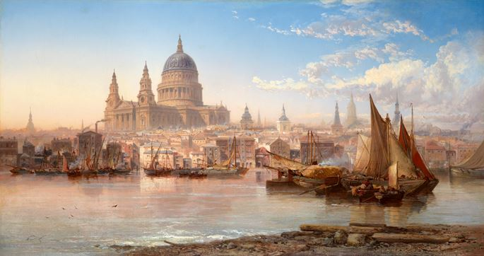 James Webb - St. Paul's from the River Thames | MasterArt