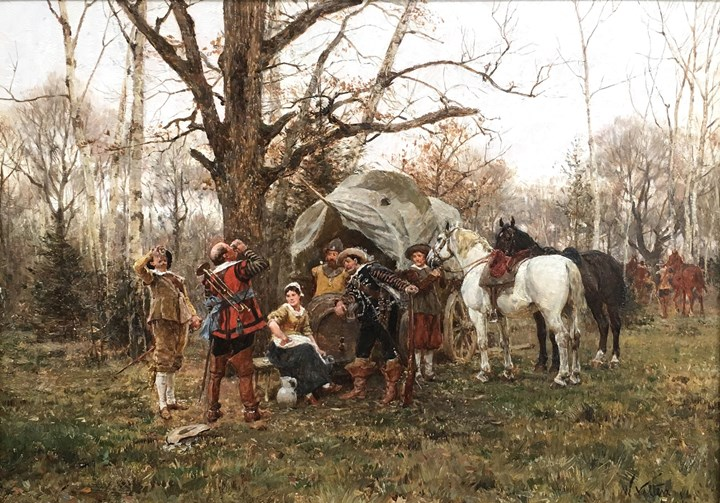 The Encampment; The Toast, The Horse Fair in Winter