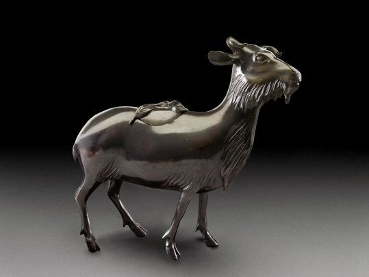A Bronze Incense Burner in the Form of a Goat, Qing Dynasty | MasterArt
