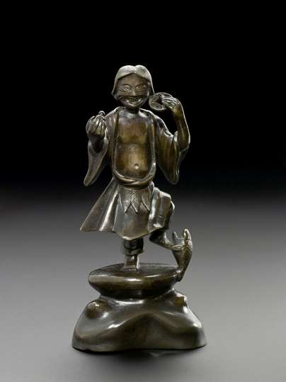 Bronze Figure of Liu Hai - Daoist God of Prosperity, Ming Dynasty