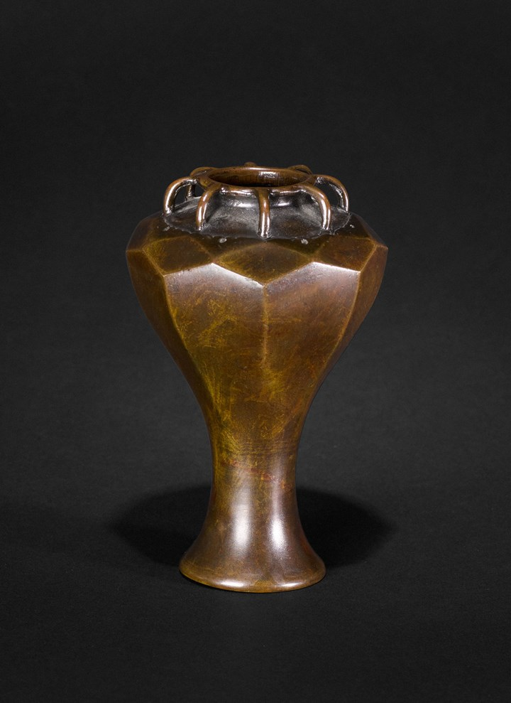 Bronze Flower Vase, Edo Period