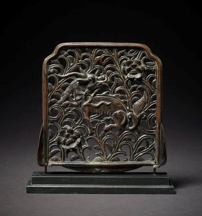 Bronze Plaque Depicting a Qilin in Foliage, Qing Dynasty | MasterArt