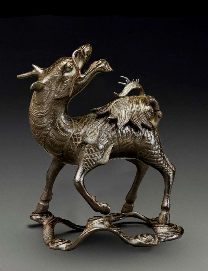 Bronze Qilin Censer, China, Late Ming Dynasty
