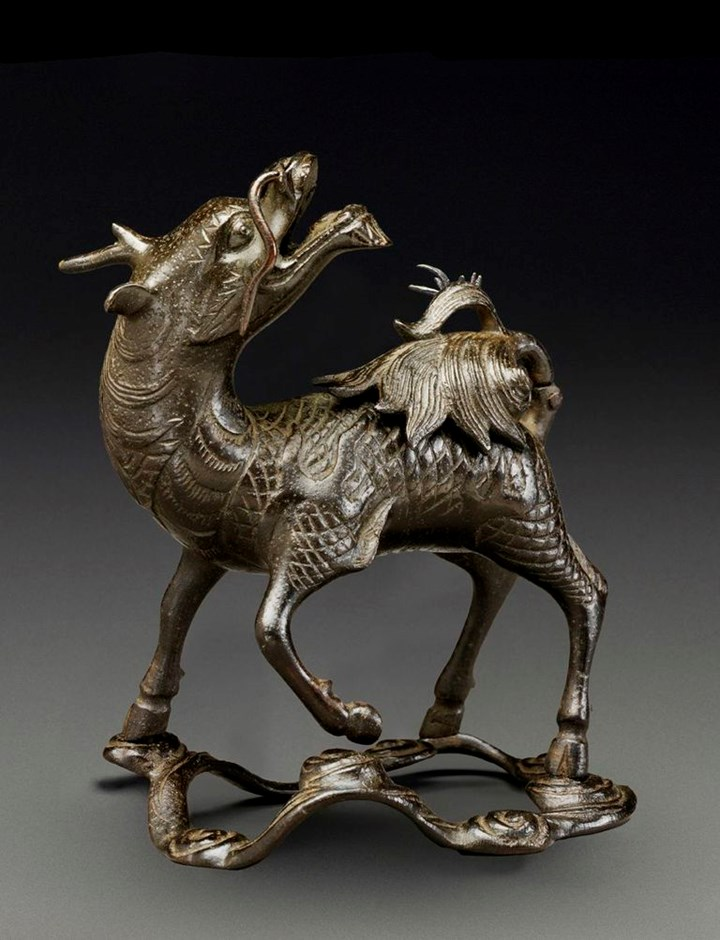 Bronze Qilin Censer, late Ming dynasty