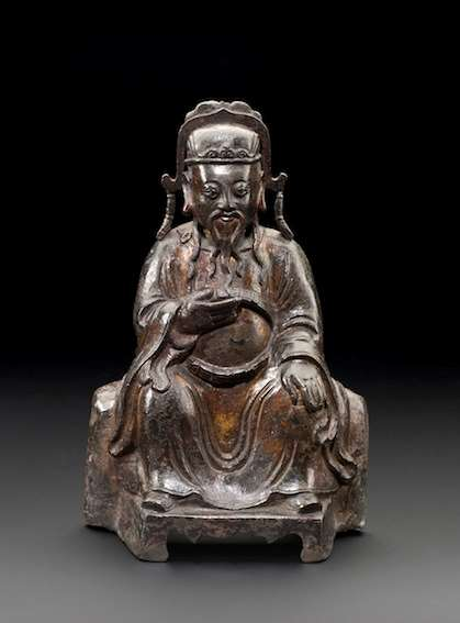 Bronze Seated Official, Ming Dynasty
