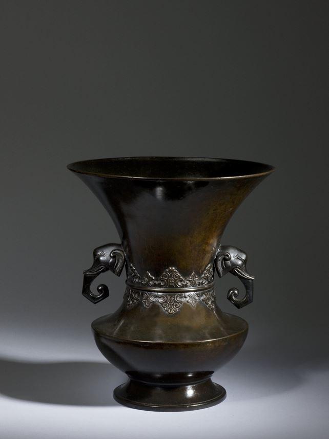 Bronze Temple Flower Vase Japan Edo Period Masterart