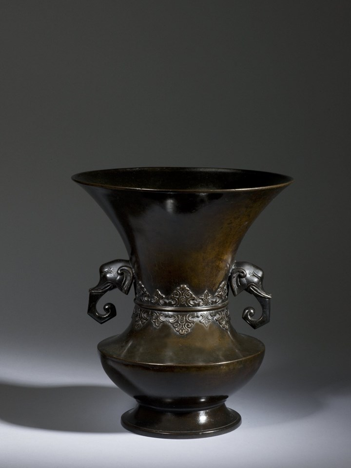 Bronze Temple Flower Vase, Japan, Edo Period