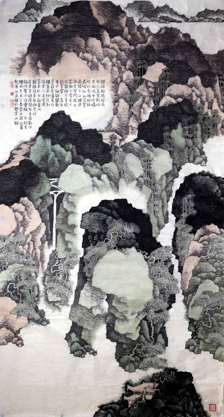 Xubai Li - A Six Feet Scroll of Dusk Meditation in Xi Mountain | MasterArt