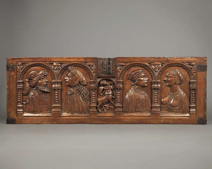 Marriage Chest Panel with Couple