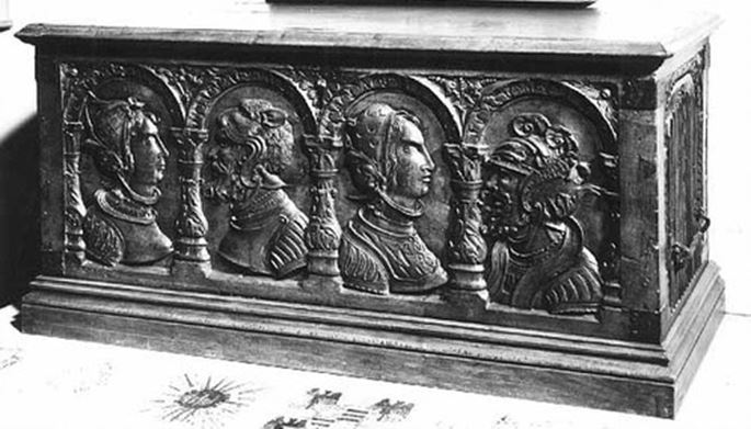 Marriage Chest Panel with Couple | MasterArt
