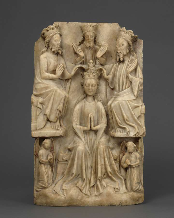 Relief with the Coronation of the Virgin