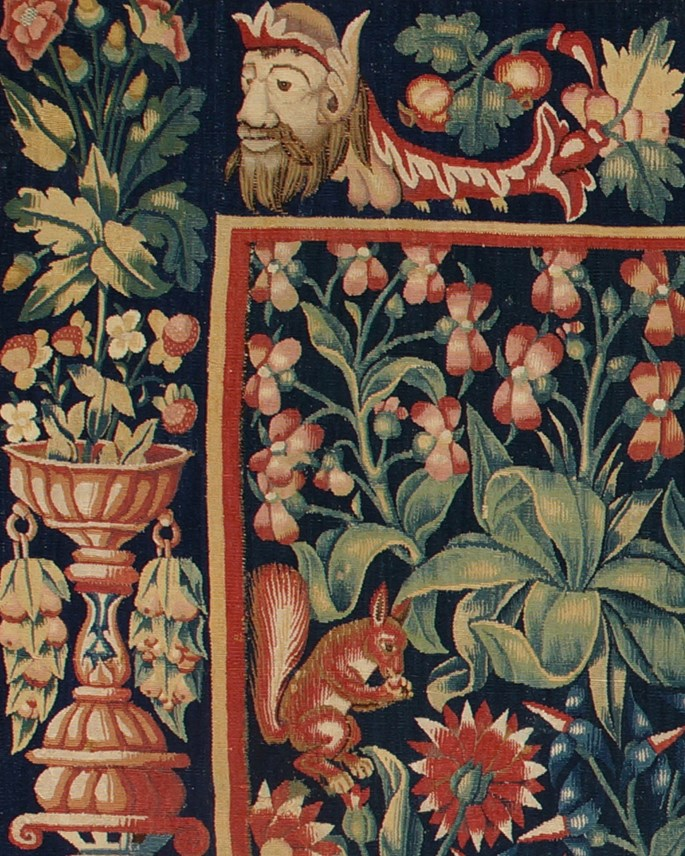 A Millefleurs Tapestry with the coat of arms and initials of Christine de Lechy | MasterArt