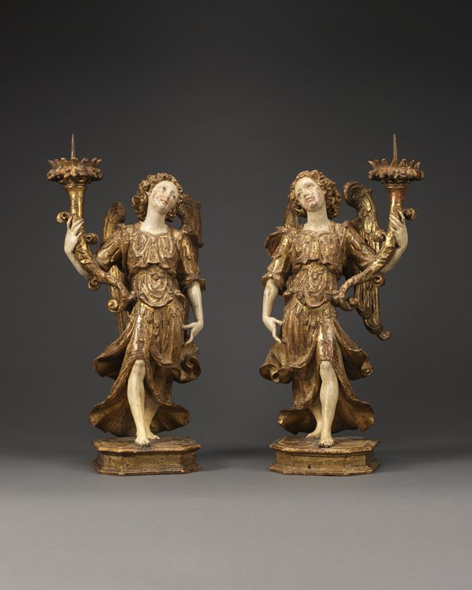 A Pair of Angels Holding Candlesticks | MasterArt