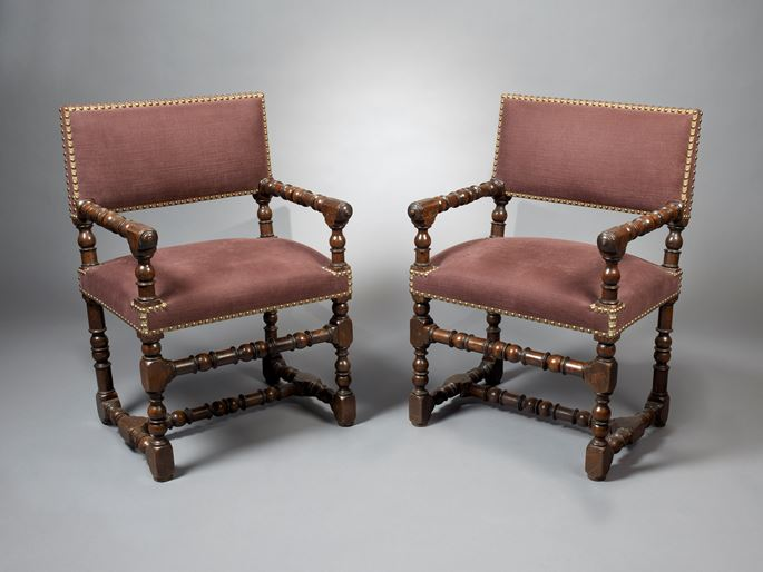 A Pair of Louis XIII Fauteuils | MasterArt