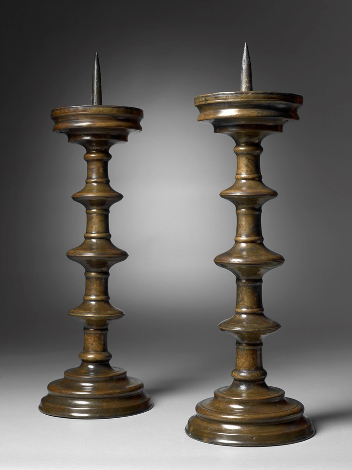 A Pair of Pricket Candlesticks