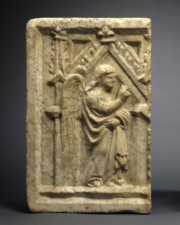 Pisan Master - A Pair of Reliefs with the Angel Gabriel and Virgin of the Annunciation | MasterArt