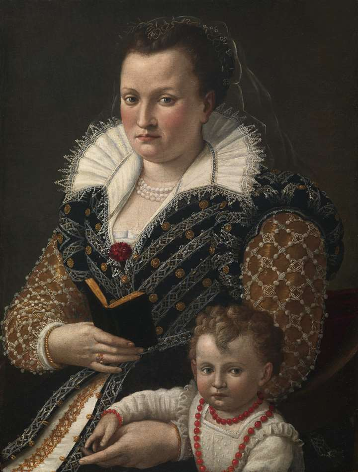 A Portrait of Alessandra di Vieri de'Medici and her son Ottaviano