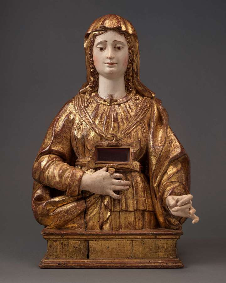 A Reliquary Bust Female Saint