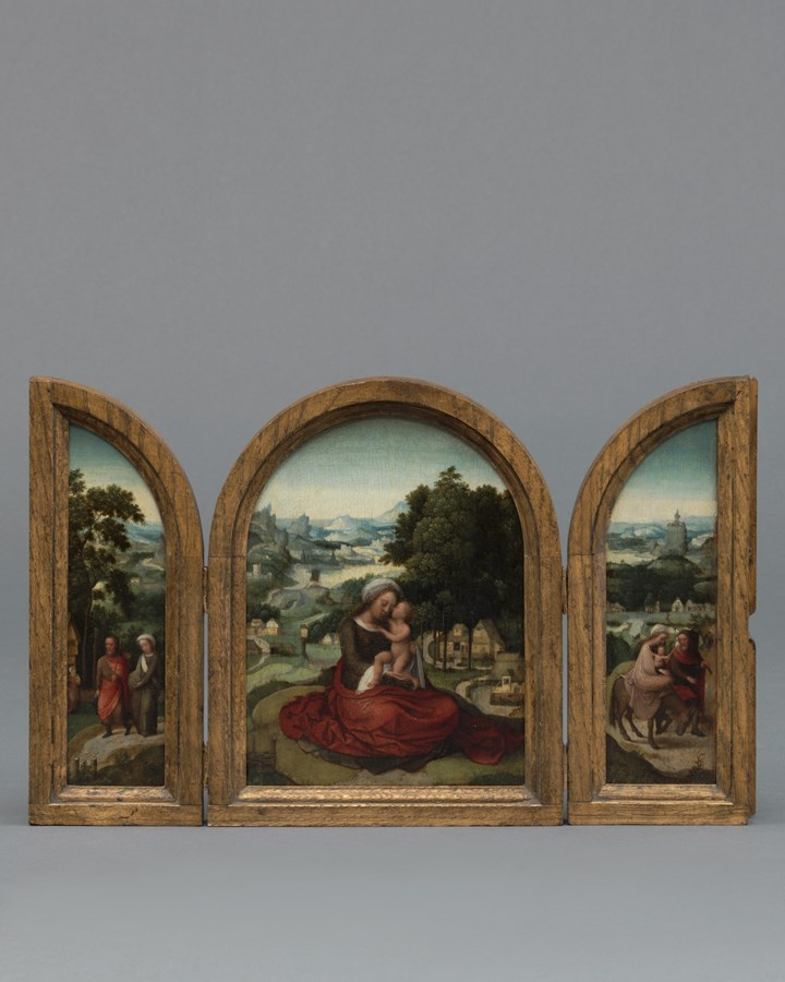 Landscape with Madonna and Child Joseph and Mary Pregnant Rest on the Flight into Egypt