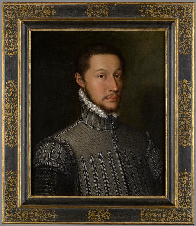 The Monogrammist GR - Portrait of a Nobleman, Bust Length, Wearing a Doublet and a White Lace Collar | MasterArt