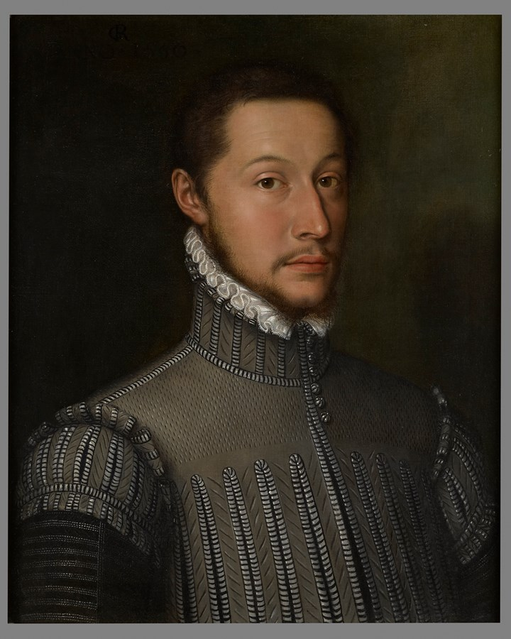 Portrait of a Nobleman, Bust Length, Wearing a Doublet and a White Lace Collar