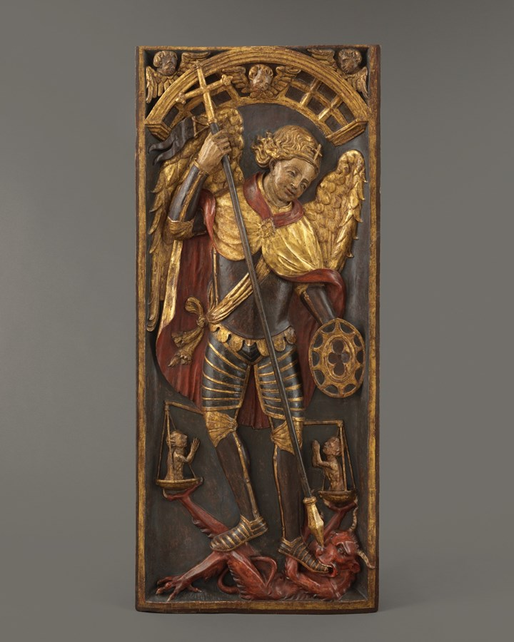 Retable Panel with Saint George and the Dragon