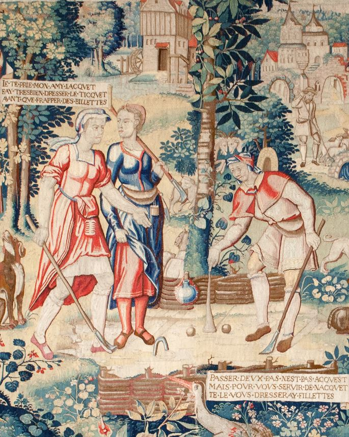 Tapestry depicting the Ball Game from the story of Gombaut and Macée | MasterArt