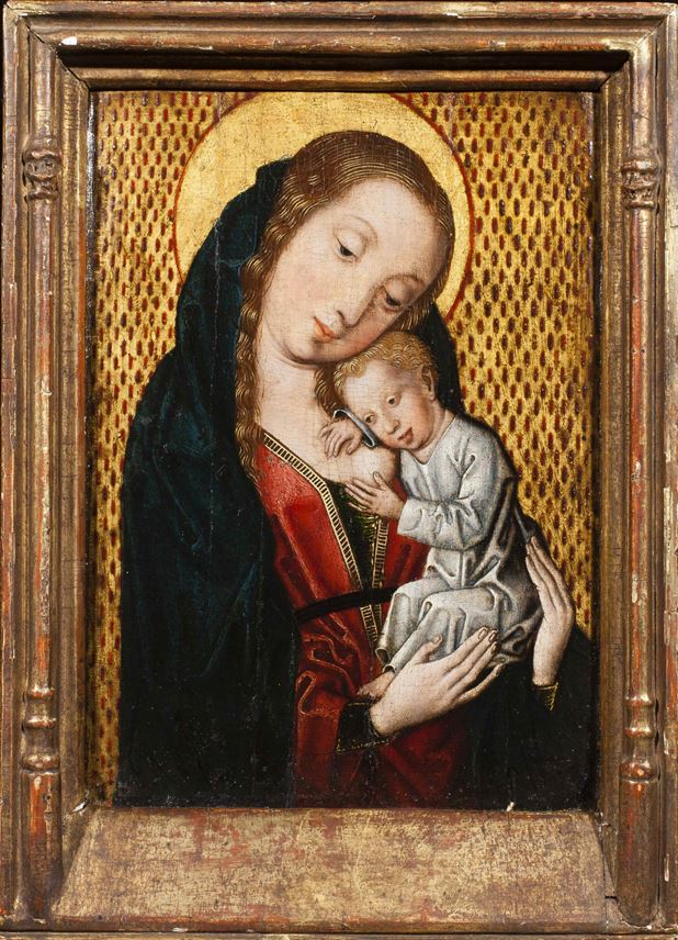 Master of the Embroided Brocade Group - The Virgin Nursing the Christ Child | MasterArt
