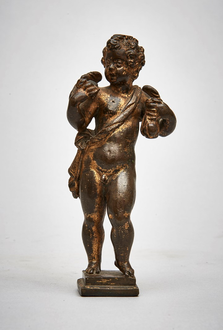 Cupid Holding a Purse and Dice