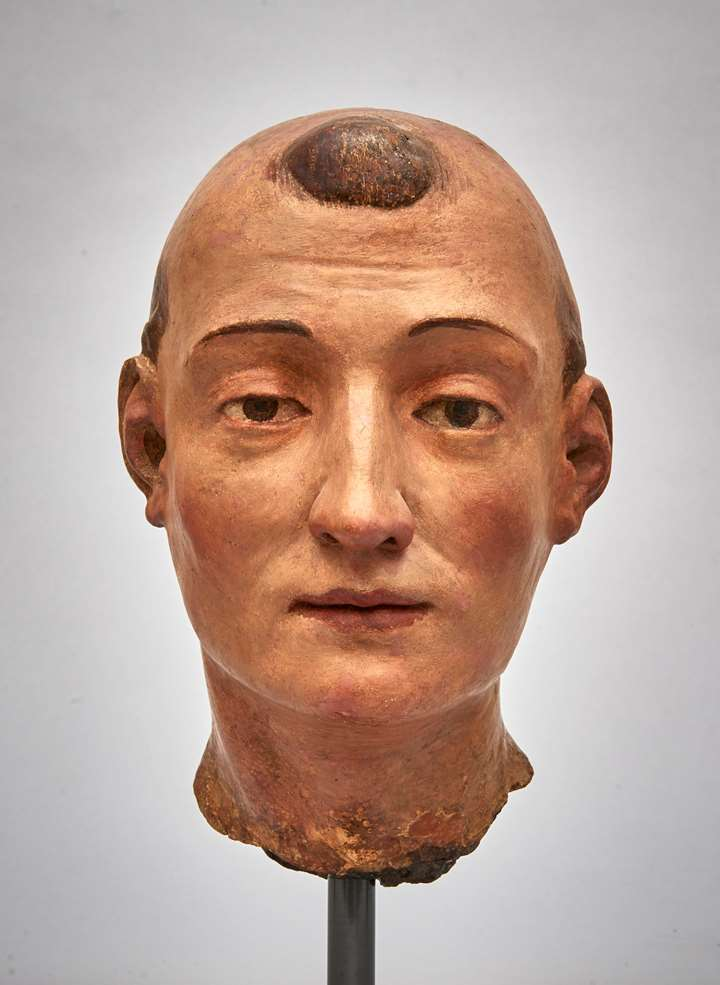 Head of a Saint - possibly St Leonard or St Lawrence