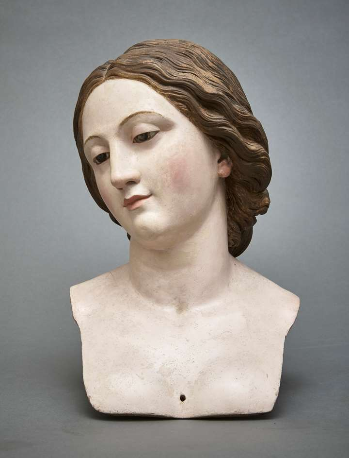 A Processional Bust of a Female Saint