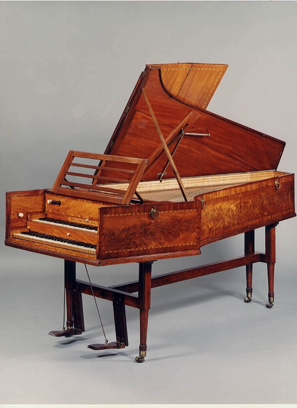 A Double-Manual Harpsichord by Abraham and Joseph Kirckman, London 1789