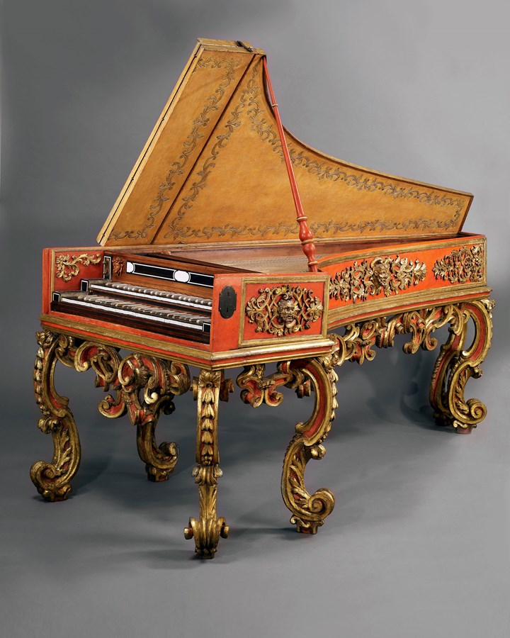 A Unique and Highly Important Neapolitan double-manual Cembalo-Tiorbino (Theorbo-Harpsichord) attributed to Gasparre Sabbatino