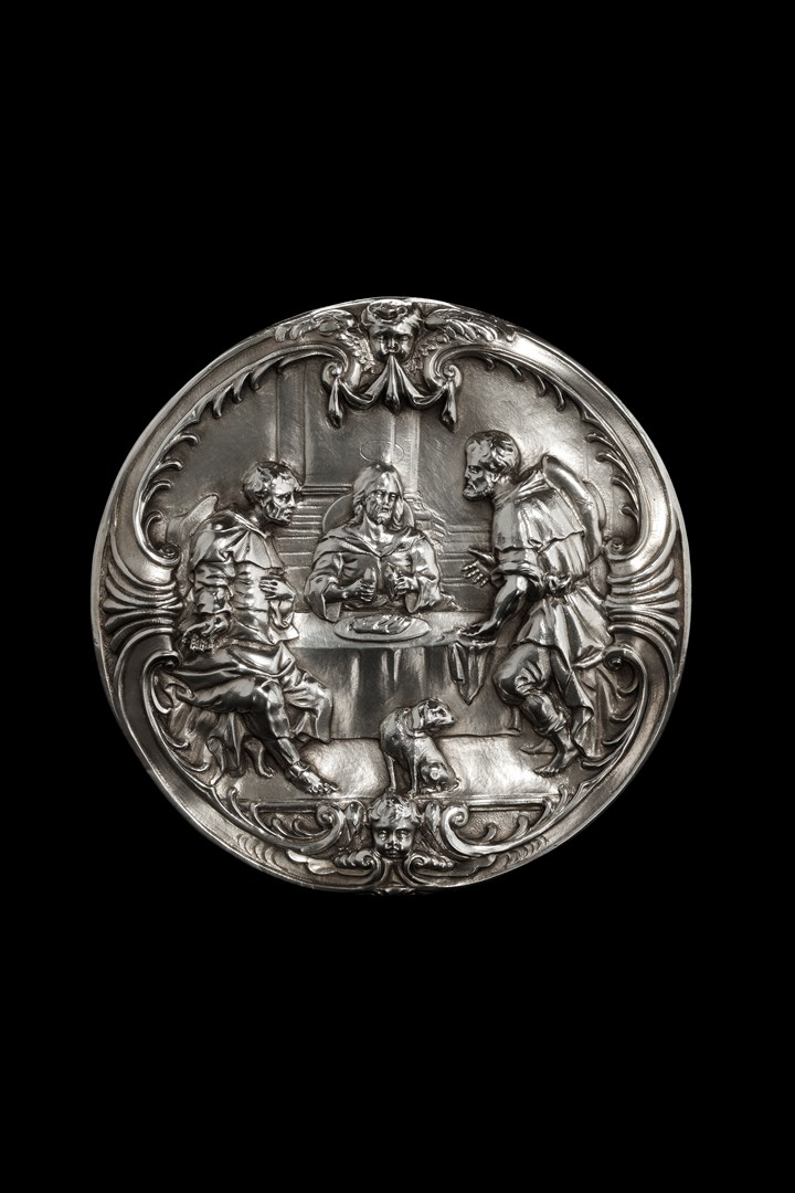 A belgian silver Host box