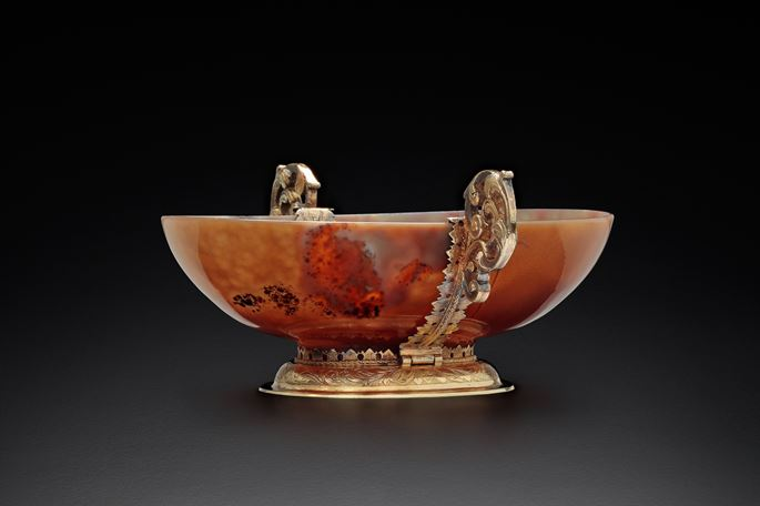A silver gilt mounted agate bowl | MasterArt