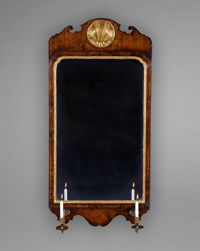 A GEORGE I WALNUT AND GILDED MIRROR | MasterArt