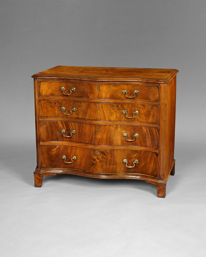 A George III period mahogany serpentine chest | MasterArt