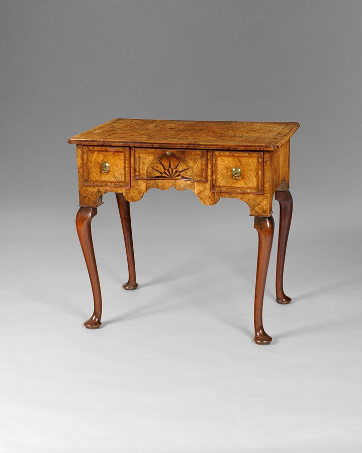 A George I period walnut lowboy