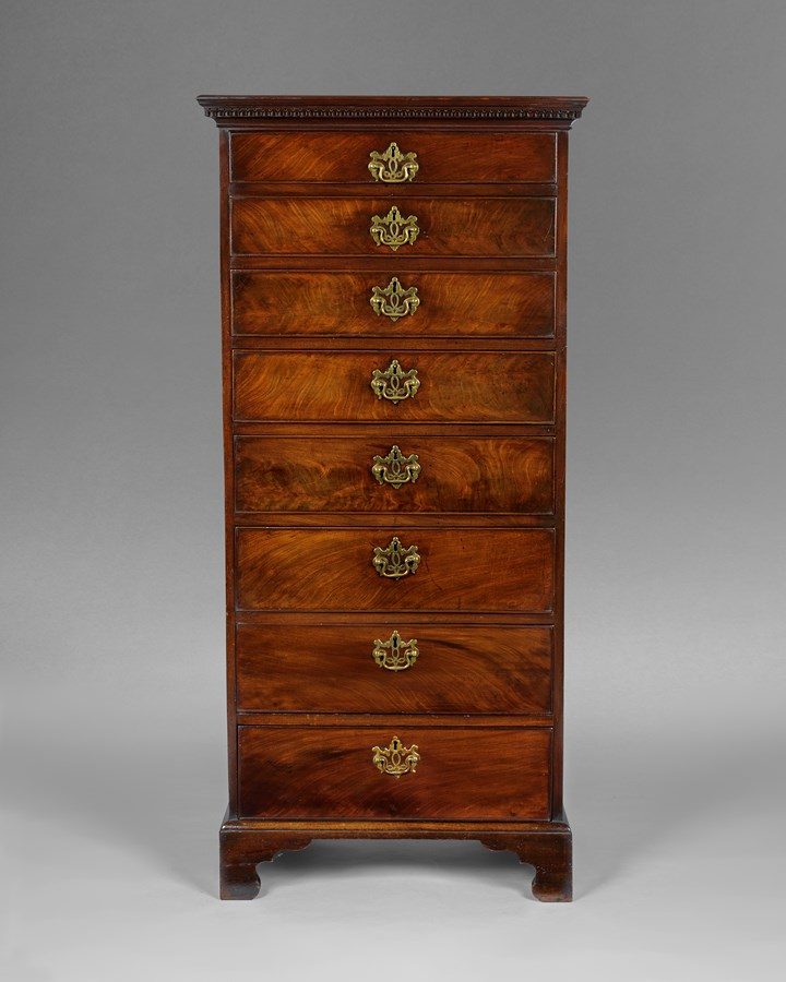 A good George IIIrd period Irish mahogany small tallboy